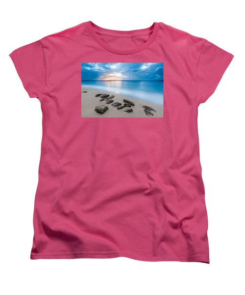 Women's T-Shirt (Standard Cut) featuring the photograph Rocks By The Sea by Mihai Andritoiu