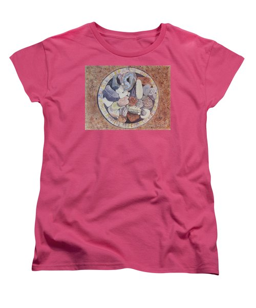 Women's T-Shirt (Standard Cut) featuring the painting Rocks by Carol Flagg
