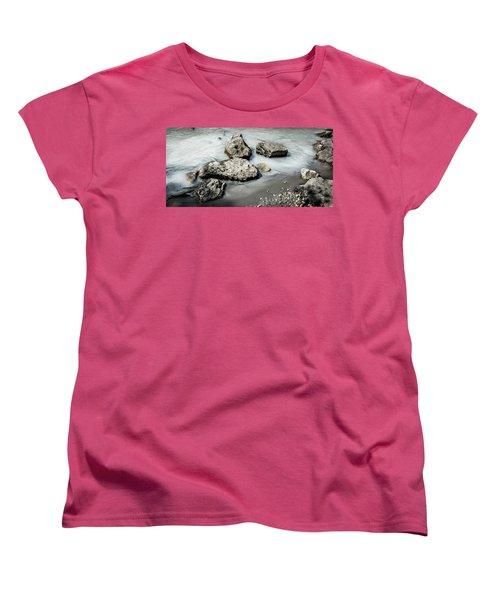 Rocks In The River Women's T-Shirt (Standard Cut) by Andrew Matwijec