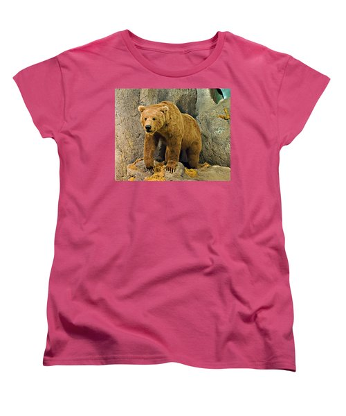 Rolling Hills Wildlife Adventure 1 Women's T-Shirt (Standard Cut) by Walter Herrit