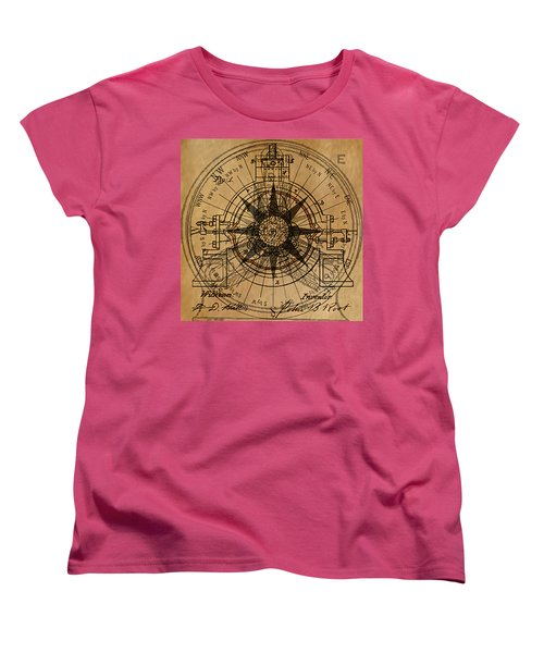 Women's T-Shirt (Standard Cut) featuring the painting Root Patent I by James Christopher Hill