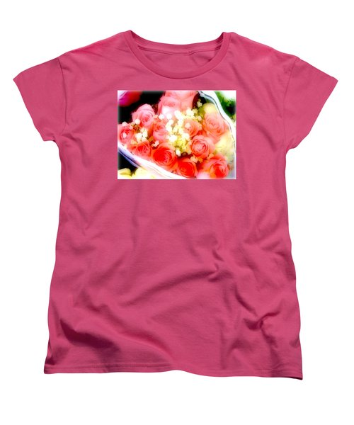Women's T-Shirt (Standard Cut) featuring the photograph Roses Are Red. by Ira Shander