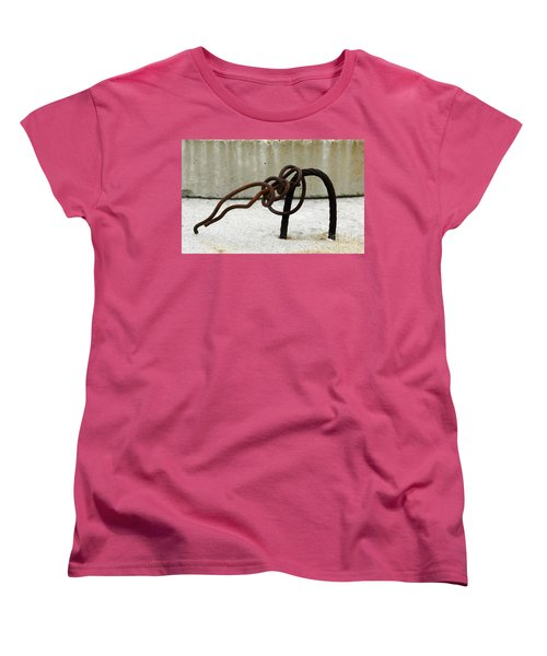 Women's T-Shirt (Standard Cut) featuring the photograph Rusty Twisted Metal I by Lilliana Mendez