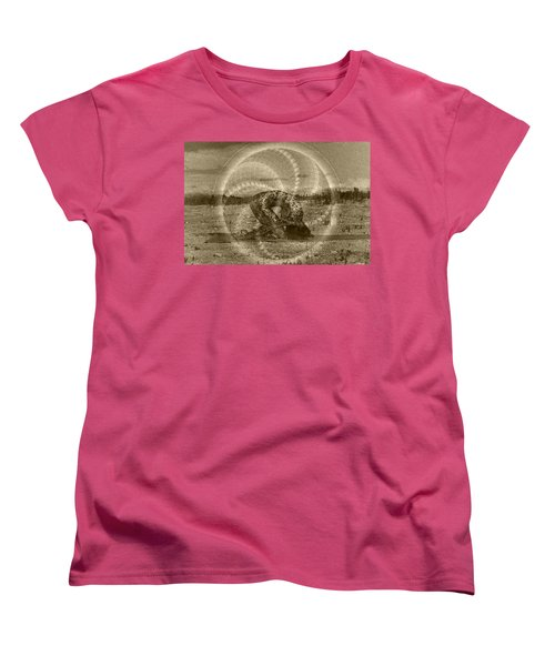Sacred Rabbit Women's T-Shirt (Standard Cut) by Deprise Brescia