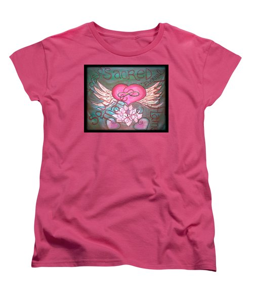 Sacred Soulmates And Twin Flames Women's T-Shirt (Standard Cut) by Absinthe Art By Michelle LeAnn Scott