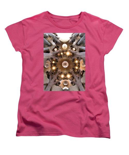 Sagrada Familia Women's T-Shirt (Standard Cut) by Jennifer Wheatley Wolf