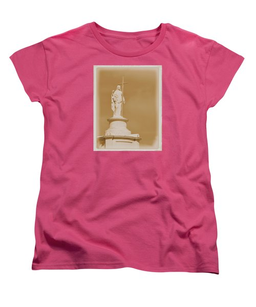 Women's T-Shirt (Standard Cut) featuring the photograph Saint With A Cross by Nadalyn Larsen