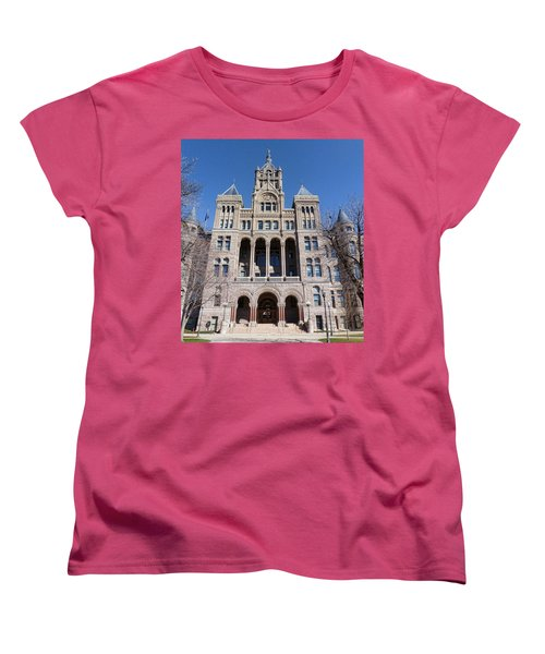 Women's T-Shirt (Standard Cut) featuring the photograph Salt Lake City - City Hall - 2 by Ely Arsha