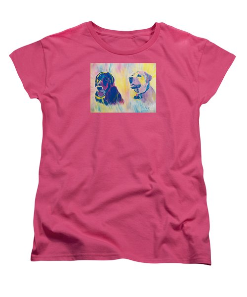 Women's T-Shirt (Standard Cut) featuring the painting Sammy And Toby by Judy Via-Wolff