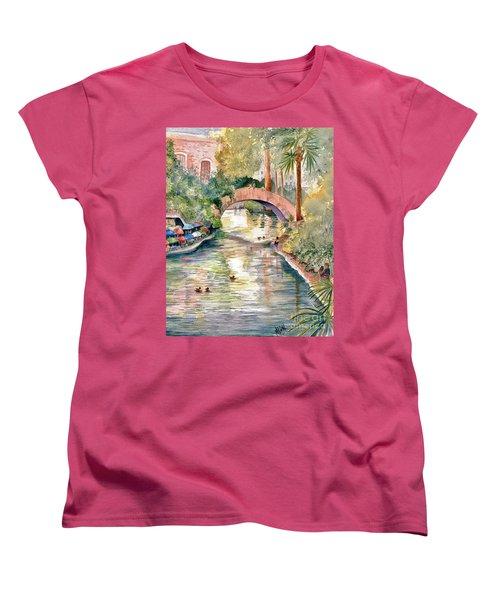 San Antonio Riverwalk Women's T-Shirt (Standard Cut) by Marilyn Smith