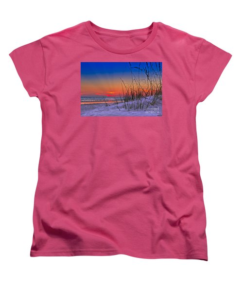 Sand And Sea Women's T-Shirt (Standard Cut) by Marvin Spates