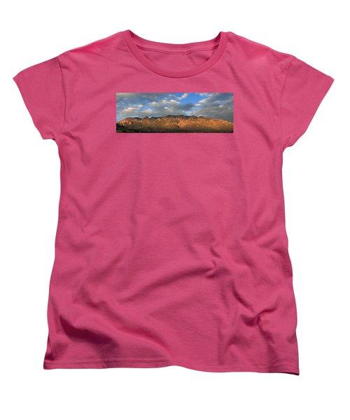 Sandia Crest At Sunset Women's T-Shirt (Standard Cut) by Alan Vance Ley