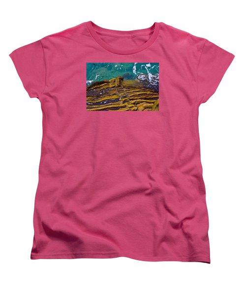 Sandstone Ribs Women's T-Shirt (Standard Cut) by Adria Trail