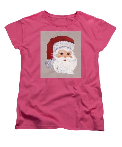 Women's T-Shirt (Standard Cut) featuring the painting Santa by Barbara McDevitt