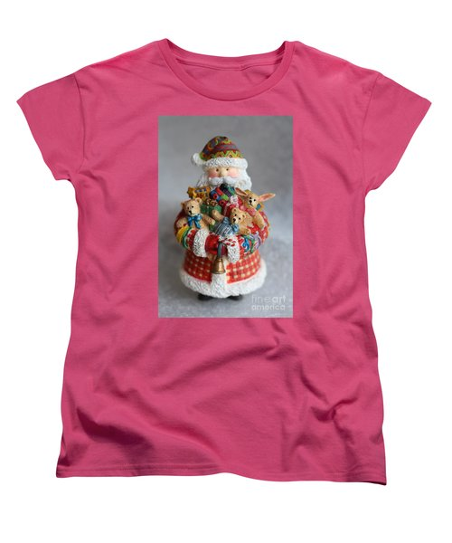 Santa Claus Women's T-Shirt (Standard Cut) by Ella Kaye Dickey