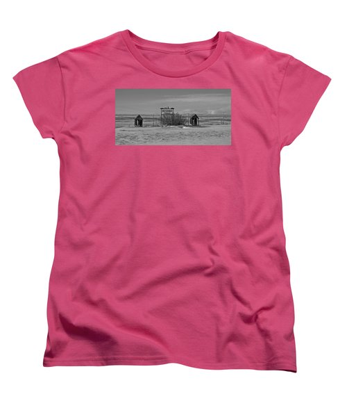 Women's T-Shirt (Standard Cut) featuring the photograph Savageton Cemetery  Wyoming by Cathy Anderson