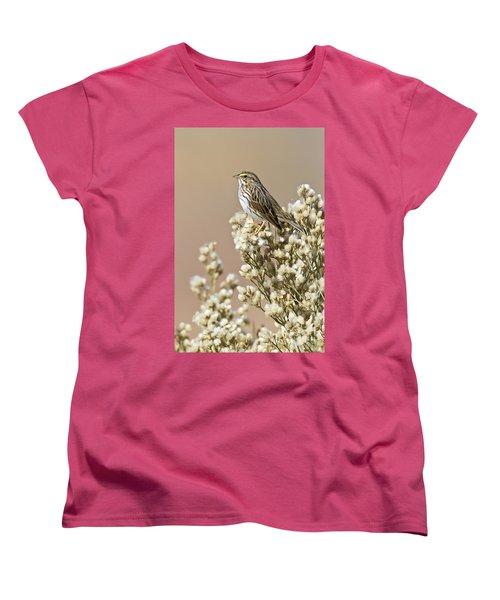 Women's T-Shirt (Standard Cut) featuring the photograph Savannah Sparrow by Bryan Keil
