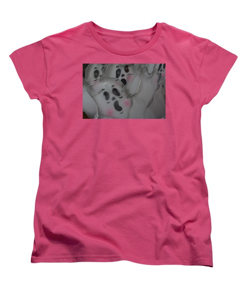 Scary Ghosts Women's T-Shirt (Standard Cut) by Patrice Zinck