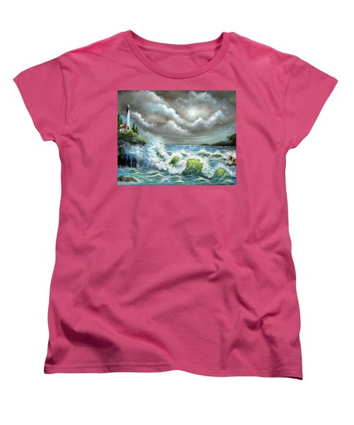 Women's T-Shirt (Standard Cut) featuring the painting Sea Of Smiling Faces by Patrice Torrillo