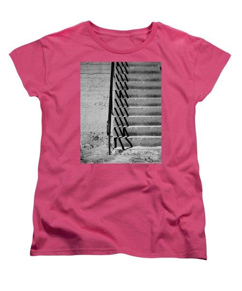 Sea Wall Steps Women's T-Shirt (Standard Cut) by Perry Webster