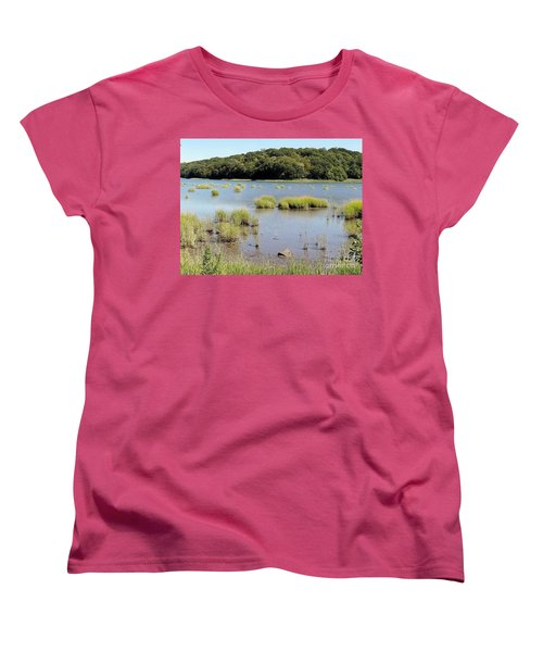 Women's T-Shirt (Standard Cut) featuring the photograph Seagrass by Ed Weidman