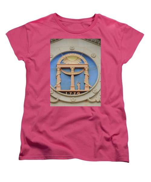 Women's T-Shirt (Standard Cut) featuring the photograph seal of Georgia by Aaron Martens