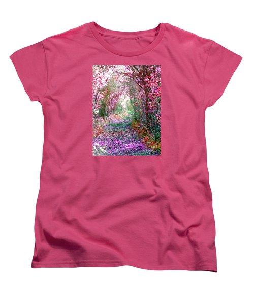 Secret Garden Women's T-Shirt (Standard Cut) by Vicki Spindler