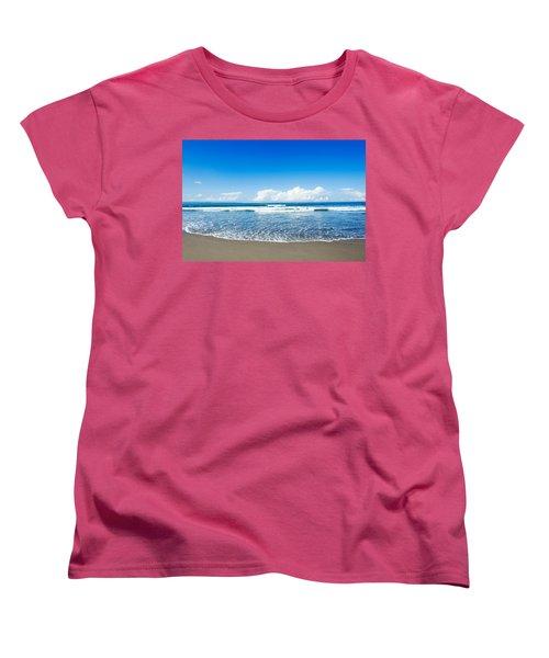 Women's T-Shirt (Standard Cut) featuring the photograph Seminyak Beach by Yew Kwang