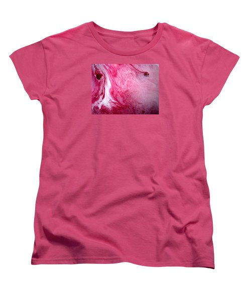 Women's T-Shirt (Standard Cut) featuring the painting Shades Of Pink by Salman Ravish