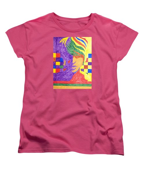 Women's T-Shirt (Standard Cut) featuring the painting Prince Gemini   by Stormm Bradshaw