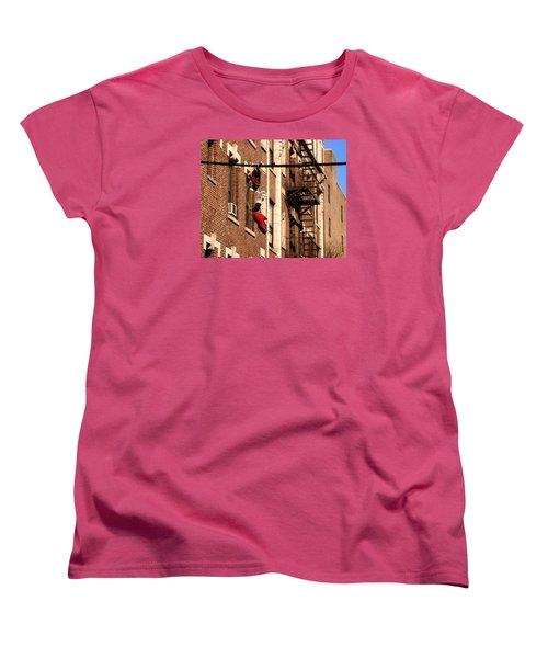 Shoes Hanging Women's T-Shirt (Standard Cut) by RicardMN Photography