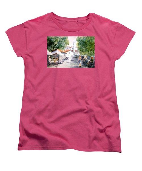 Women's T-Shirt (Standard Cut) featuring the painting Siesta In Bozcaada... by Faruk Koksal