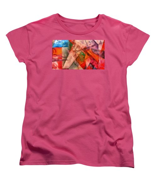 Women's T-Shirt (Standard Cut) featuring the digital art Silky Abstract by Catherine Lott