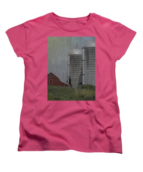 Silo And Barn Women's T-Shirt (Standard Cut) by Photographic Arts And Design Studio