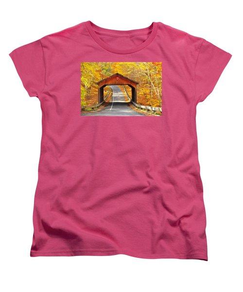 Sleeping Bear National Lakeshore Covered Bridge Women's T-Shirt (Standard Cut) by Terri Gostola