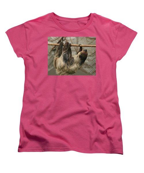 Sloth Women's T-Shirt (Standard Cut) by Ellen Henneke
