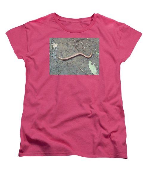 Women's T-Shirt (Standard Cut) featuring the photograph Slow Worm by John Williams