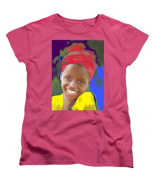 Smile Women's T-Shirt (Standard Cut) by Kume Bryant