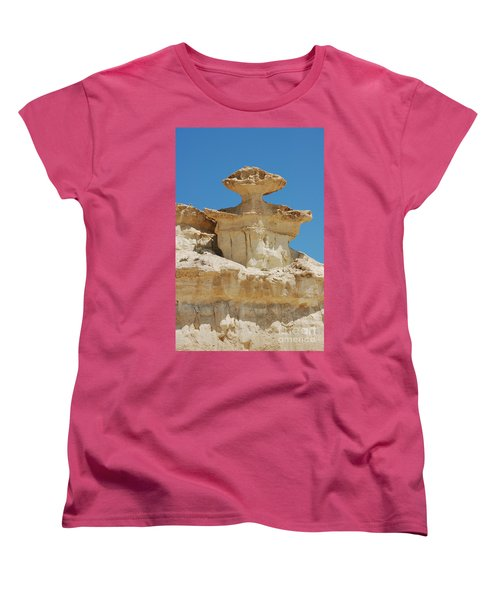 Women's T-Shirt (Standard Cut) featuring the photograph Smiling Stone Man by Linda Prewer