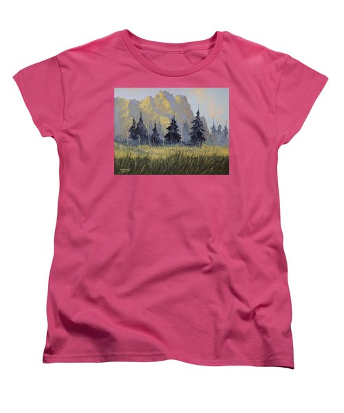 Smith Rock Oregon Women's T-Shirt (Standard Cut) by Richard Faulkner