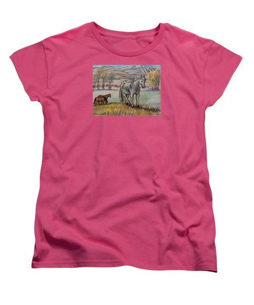 Smoky The Mustang -- In Honor Women's T-Shirt (Standard Cut) by Dawn Senior-Trask