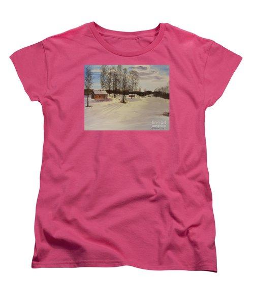 Snow In Solbrinken Women's T-Shirt (Standard Cut) by Martin Howard
