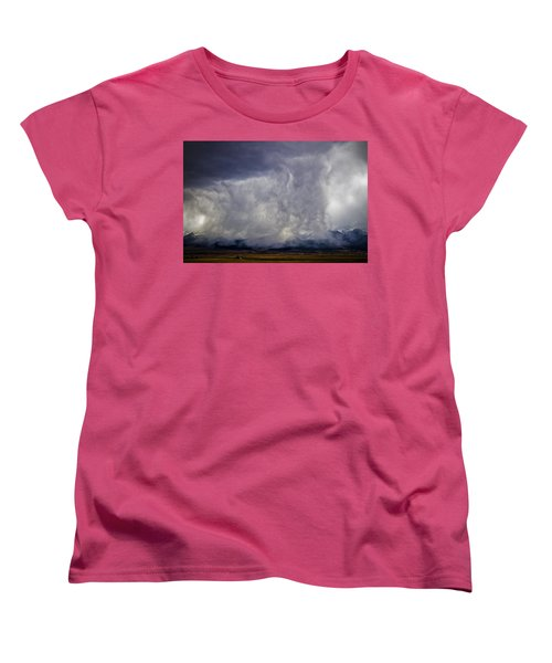 Snow On The Rockies Women's T-Shirt (Standard Cut) by Greg Reed