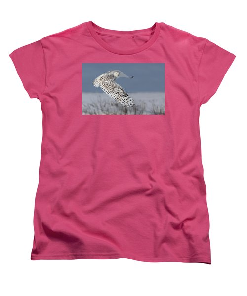 Snowy In Action Women's T-Shirt (Standard Cut) by Mircea Costina Photography