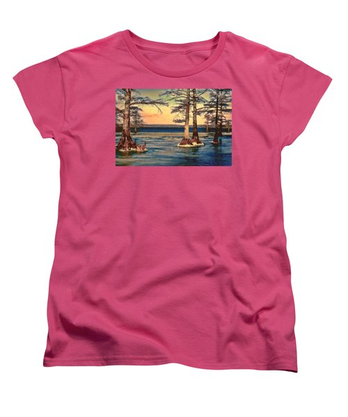 Snowy Reelfoot Women's T-Shirt (Standard Cut) by Bonnie Willis