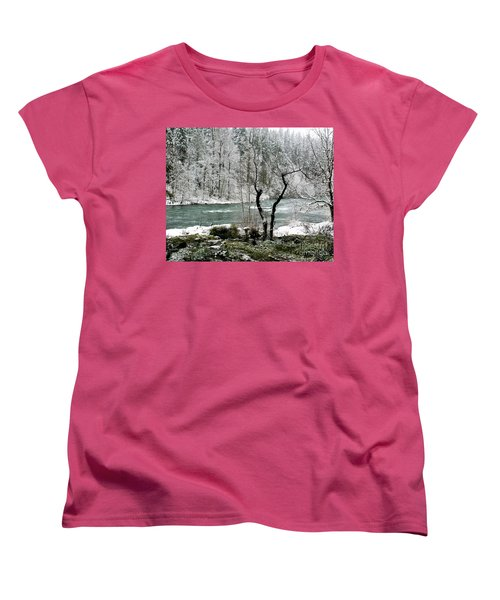 Snowy River And Bank Women's T-Shirt (Standard Cut) by Belinda Greb