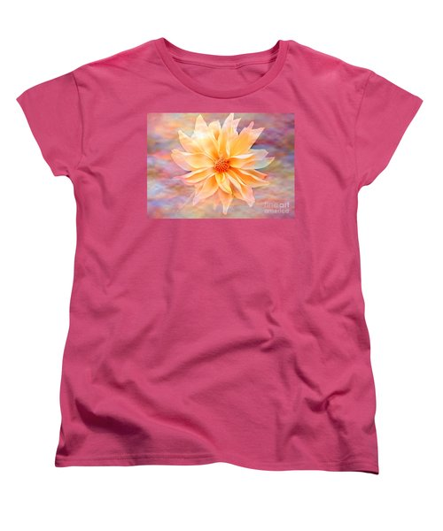 Women's T-Shirt (Standard Cut) featuring the photograph Soft Delightful Dahlia by Judy Palkimas