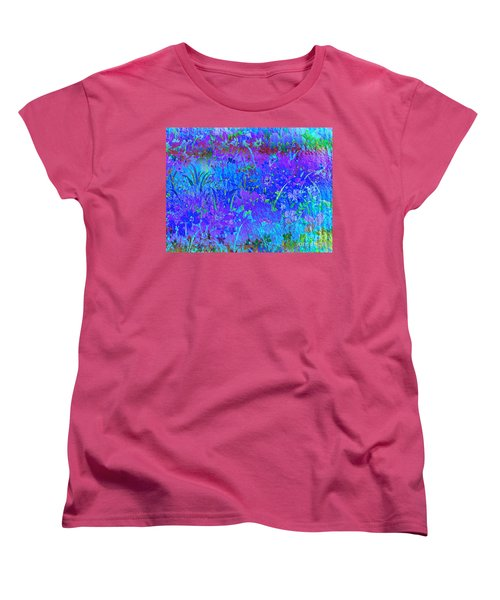 Women's T-Shirt (Standard Cut) featuring the photograph Soft Pastel Floral Abstract by Judy Palkimas