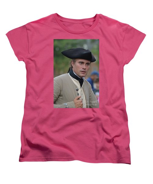 Soldier In Colonial Williamsburg Women's T-Shirt (Standard Cut) by DejaVu Designs