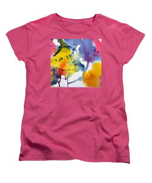 Women's T-Shirt (Standard Cut) featuring the painting Spring Fling by Joan Hartenstein